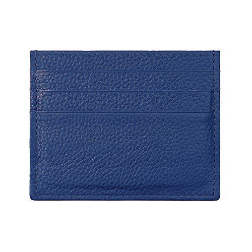 Hibate (Azul) Mini Cuero FRID Tarjetero Fundas para Tarjetas de Crédito Cartera Hombre Mujer Señoras Niña Niño Piel Billetera