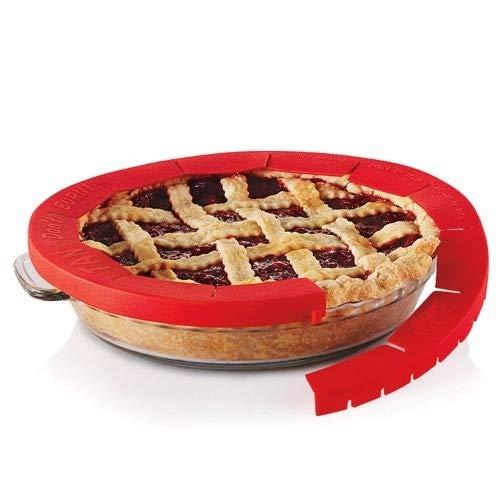 Bureze réglable en silicone Moule à Tarte croûte à tarte Shield protecteurs Outil Assiette à pizza gâteau Moules à gâteaux Cercle