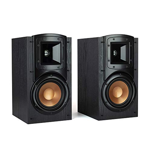 """Klipsch Synergy Black Label B-200 Bookshelf Speaker Pair with Proprietary Horn Technology, a 5.25"""" High-Output Woofer and a Dynamic .75"""" Tweeter for Surrounds or Front Speakers in Black"""