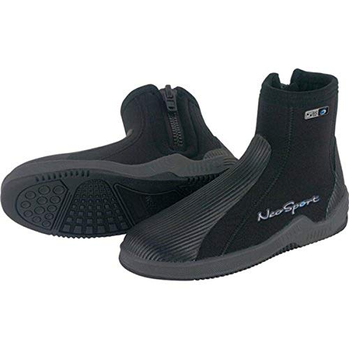 NeoSport 5-mm Hard Sole Boot (Black, 10) - Water Shoes, Surfing & Diving