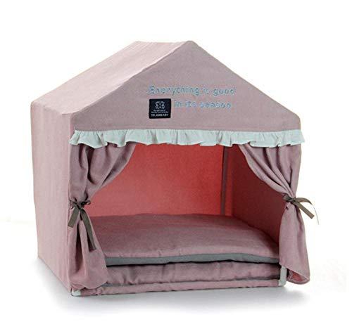 Kennelprincess Luxe hondenhok inklapbaar puppybed voor puppy's Kleine dieren met kussen Warm huisdier Kennel Kennel Kat Camping Tent 53X43X55 Cm