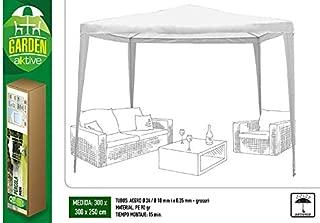 Aktive Garden 53857 - Cenador Blanco 300 x 300 x 250 cm