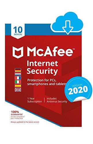 McAfee Internet Security | 10 Gerät | 1 Benutzer | 12 Monate | PC/Mac | Aktivierungscode per Email