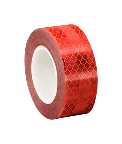 """3M - 2-5-3272(PK 2) 3432 Red Micro Prismatic Sheeting Reflective Tape, 2"""" x 5 yd (Pack of 2)"""
