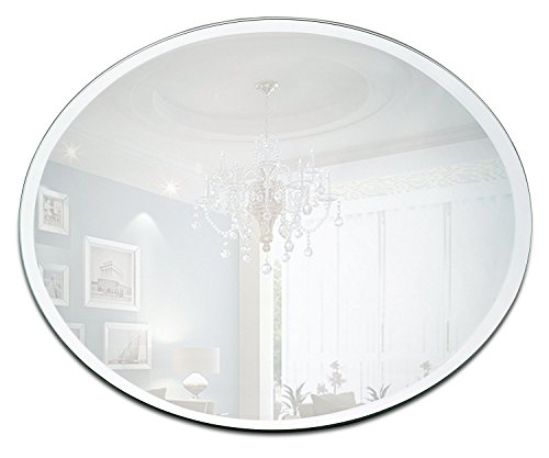 Round Mirror Candle Plate Set - Box of 12 Mirror Trays - 10 inch Diameter with Beveled Edge - Perfect for Table Wedding Centerpieces, Party Decor, Crafts
