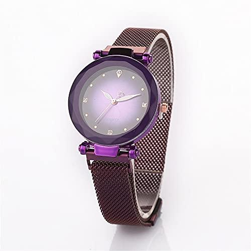 OWZSAN Mujeres Moda Imán Mujeres Relojes De Lujo Relojes De Pulsera Cuarzo Relojes Hembra Magnético Reloj Elegante Vestido De Fiesta Regalos Reloj Digital (Color : Style5)