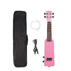 Ukulélé Pour Enfants Adultes Kit Ukulélé électrique En Bois Massif Okoumé 21 Pouces Pour Débutant En Musique (Size:One Size; Color:Pink)