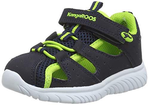 KangaROOS KI-Rock Lite EV Unisex Baby Sneaker, Blau (Dark Navy/Lime 4054), 24 EU
