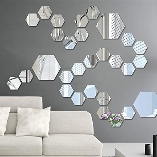 AHURGND 12 sztuk wymienny naklejka, wymienna lustro akrylowe naklejki ścienne, domowy salon sypialnia wystrój, salon sypialnia sztuka dekoracji MAJSTERKOWANIE Wystrój domu