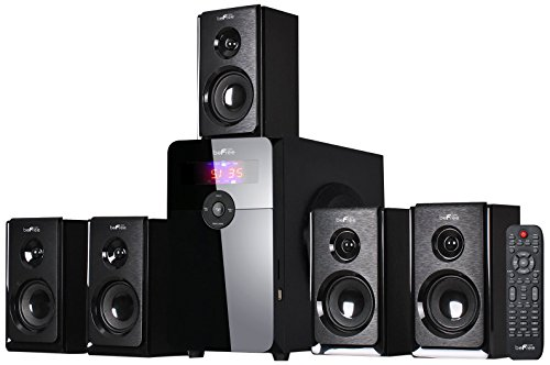 beFree Sound BFS-450 5.1 Channel Surround Bluetooth Speaker System -...