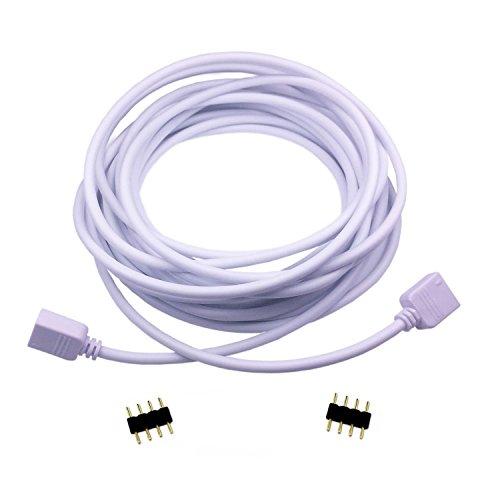 LitaElek 2.5m 250cm RGB LED Verlängerungskabel LED Streifen Verbinder Verlängerung Anschluss Verteiler Kabel für 4 polig RGB 5050 3528 2835 LED Streifen Licht, für 4 polig LED TV Hintergrundbeleuchtung SET, und für 4 polig OSRAM flexible RGB LED-Stre