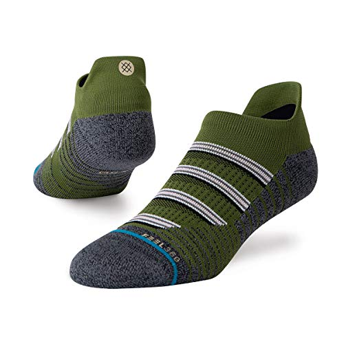 Stance Combat Tab No Show Socks in Green (UK 8-12)