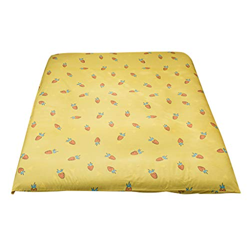 MERIGLARE Tatami Bed Cover Cushion Cover Floor Pillows Cover for Yoga - carrot
