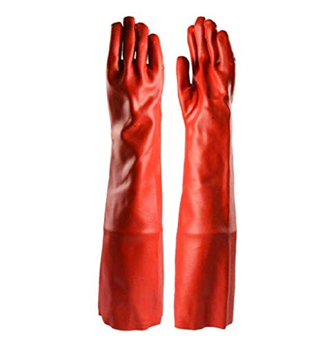 WEHOLY Arbeits-Schutzhandschuh, 60 CMPVC, Vulkanisation, säure- und alkalibeständig, chemisches Lösungsmittel, antichemisch