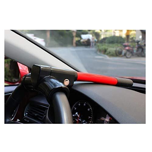 HWHCZ Wegfahrsperren Autolenkradschloss für Autos, kompatibel mit Lenkschloss Citroen C5, T-BAR-Lenkrad Wegfahrsperre Anti Diebstahl einziehbar (Color : Red)
