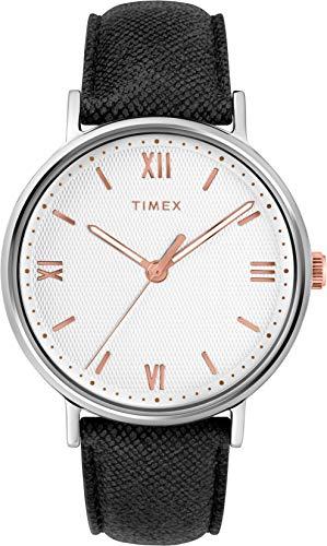 Timex Reloj Analógico para Hombre de Cuarzo con Correa en Cuero TW2T34700