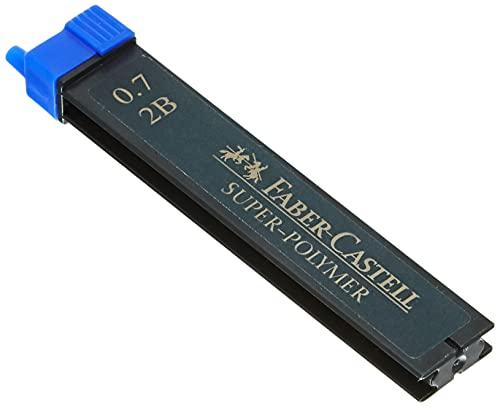 Faber-Castell 120702 - Minas, 12 unidades, Gris, 2B, 0.7 mm