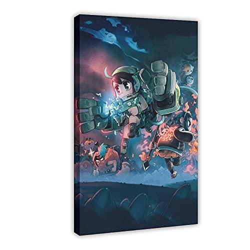 Poster di gioco Juicy Realm con 6 poster in tela per camera da letto, sport, paesaggio, ufficio, decorazione per la stanza da letto, 60 x 90 cm