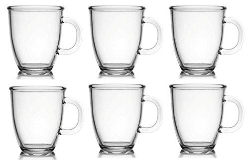 6 Kaffeebecher Glas 400ml Joe