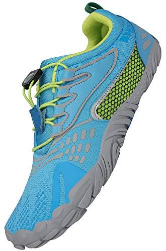 SAGUARO Minimalistische Barfußschuhe Herren Damen Barfussschuhe Leicht Traillaufschuhe Sommer Training Fitnessschuhe Outdoor & Indoor Sport Laufschuhe, Blau 40