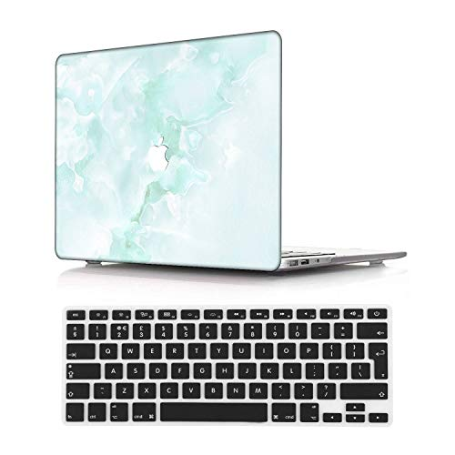 NEWCENT New MacBook Pro 13' Case,Plastic Ultra Slim Light Hard Case UK Keyboard Cover for Mac Pro 13 with/Without Touch Bar 2019 2018 2017 2016 Release(Model:A2159/A1989/A1706/A1708),Marble A 220