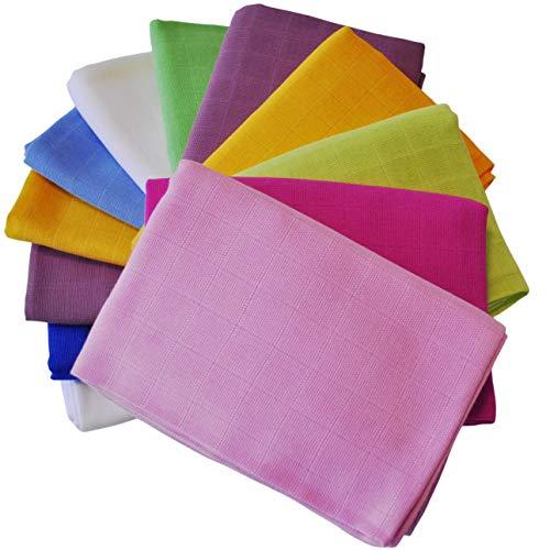 Paños para vómitos de bebé, pañales de tela I Pañales de gasa de 80 x 80 cm I 100% algodón Juego de 5 para niños