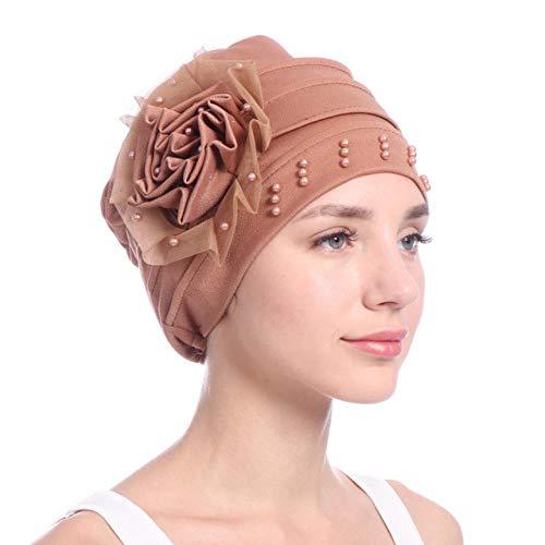 Vrouwen Side Bloemen Turban Hoed Effen Kleur Cap Bandana Headwrap-In Meisje Accessoires Houd Warm