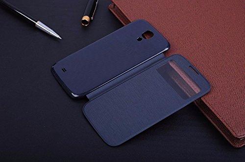 Schutzhülle Samsung Flip Cover für das Galaxy S4 S-View GT-I9500 GT-I9505 EF-FI950B, maximaler Schutz vor Stürzen und Stößen
