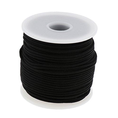 Baoblaze Forte Paracorde à 6 Brins Corde en Nylon Haute Résistance Corde de Fixation Corde de Bricolage - Noir, 2mm x 50m