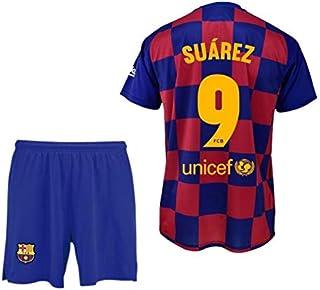 Conjunto Camiseta y pantalón 1ª equipación FC. Barcelona 2019-20 - Replica Oficial con Licencia - Dorsal 9 Suarez - Niño Talla 12