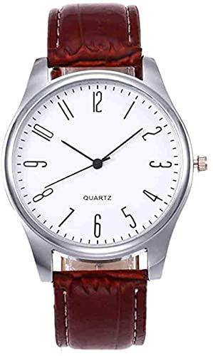 JZDH Mano Reloj Reloj de Pulsera para Hombre Simple Business Fashion Charz Reloj de Pulsera Horloges Mannen Male Watch Watches Relojes Hombres Relojes Decorativos Casuales (Color : Brown a)