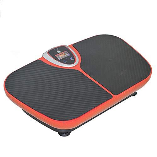 WMNRNYD Pedana Vibrante, pedana Vibrante Screen Fit Massaggio di Vibrazione della Piattaforma Macchina Touch LCD a Colori di Musica di Bluetooth Professionale Whole Body,Arancia