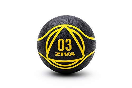 ZIVA Essentials - Pallone Medico, per Adulti, Unisex, Nero Giallo, 3 kg