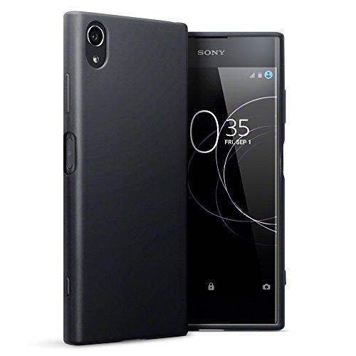 TERRAPIN, Kompatibel mit Sony Xperia XA1 Plus Hülle, TPU Schutzhülle Tasche Hülle Cover - Matt Schwarz