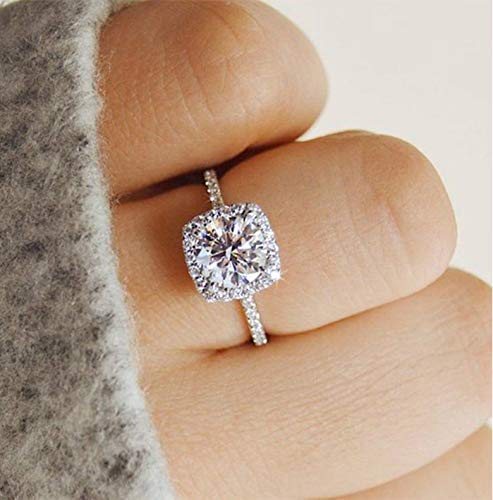 Tripmark 925 Sterling Silver Zircon Stone Engagement Wedding Band Ring Promise Rings CZ Engagement Ring for Women £¨10£