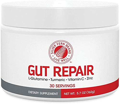 Gut Repair - Digestive Health Supplement Powder - L-Glutamine, Curcumin, Zinc & Ascorbic Acid Blend to Rebuild Intestinal Lining, Boost Immunity, Reduce Intestinal Inflammation (1 Tub - 30 Servings)