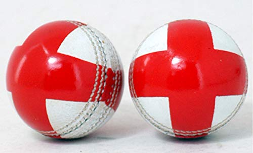 Atemberaubender Cricketball aus Leder mit Sankt-George-Kreuz.