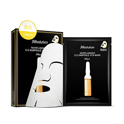 1 Box 10 PCS JM Solution Water Luminous S.O.S Ampoule Vita Mask