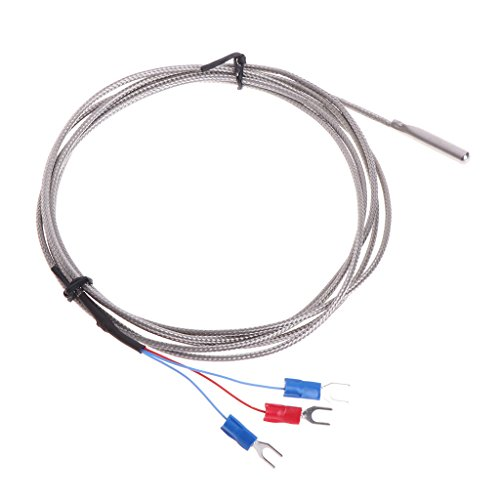 William-Lee RVS RTD PT100 Temperatuur Sensor Thermokoppel Met 2 m 3 Kabeldraden Voor Temperatuur Controller