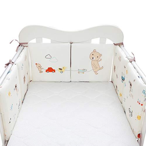 MJL 6 Pcs Bettumrandung Nestchen Bettnestchen Baby Kantenschutz Bettausstattung für Kinderbett Beistellbett Gitterbett 30 * 30 * 2cm