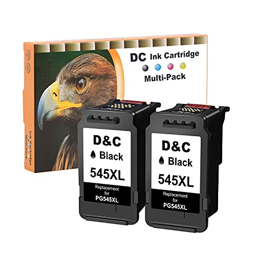 D&C 545XL Remanufacturado Cartuchos de Tinta Canon PG-545 XL Compatible con Canon Pixma MX495 MX490 iP2800 iP2850 MG2400 MG2500 MG2550S MG2555S MG2950S MG3050 ( 2x Negro )