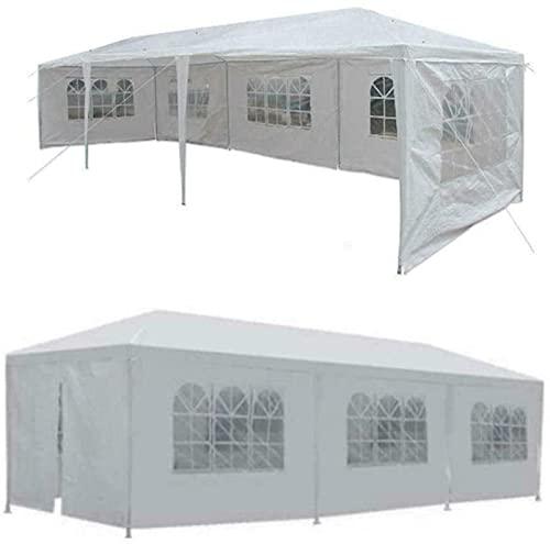 OUWTE Tenda da Esterno, 10x30 Piedi a baldacchino Tenda da Festa di Nozze Gazebo Padiglione Tenda Medica con Copertura a 5 pareti Tenda Invernale da Pesca