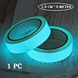 Hukimoyo® Radium tape night glow, Self-Adhesive Waterproof Photoluminescent glow tape in the Dark