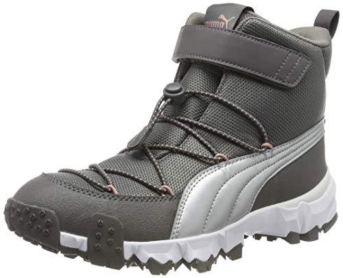 Puma Puma Maka V Jr Sneaker Unisex-Kinder, Grau (Steel Gray-Bridal Rose 02), 36 EU