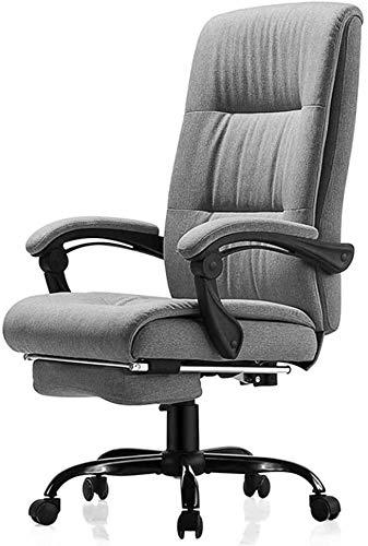 GSN Silla de la mesa con 72 cm de altura del asiento y trasero Ancha función de inclinación máxima comodidad Diseño de algodón transpirable Con extendido reposapiernas Y reclinable cojinete 150 kg Pes