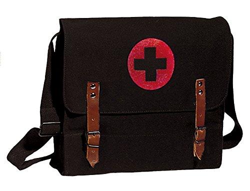 Black Military NATO Vintage Style Medic Messenger Bag