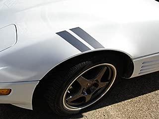 C4 Corvette Grand Sport Fender Stripes - 14 Color Options Gloss Red Left (Driver)