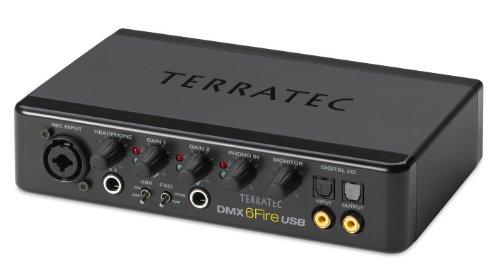 TerraTec SoundSystem DMX 6Fire externe USB-Soundkarte 24Bit/192kHz mit 4 Cinch-Ein-/6 Cinch Ausgängen, Phono-Vorstufe, Kopfhöreranschluss uvm.
