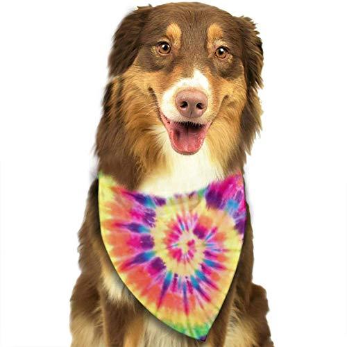 Sdltkhy Tie Dye Classic Lindo Bandana Triángulo Baberos Bufandas para Mascotas Gato Cachorro Perro