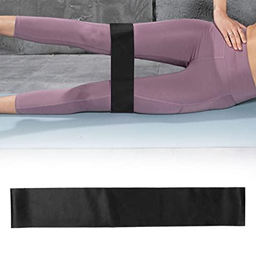 Qirg Banda de Resistencia al Ejercicio, Suave y Larga Vida útil Banda elástica de Fitness pequeña y Liviana para Pilates para Yoga para Sentadillas(Black TPE-600 * 50 * 1.1mm)